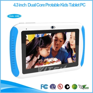 4.3 '' dual-core Android 4.4 A23 portable tablet for children