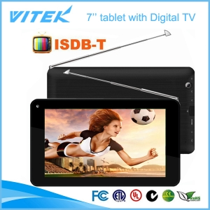 7 polegadas Android dual core ISDB-T TV tablet pc