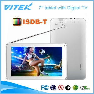 7 pollici Dual core tablet Android con ISDB-T TV