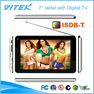 Hot 7 polegadas Android Dual core ISDB-T TV Tablet PC