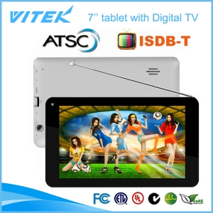 Hot 7inch tv tablet de doble núcleo ISDB-T un segmento