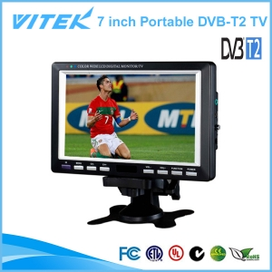 Smart 7 inch Portable TV Digital TV DVB-T2 TV