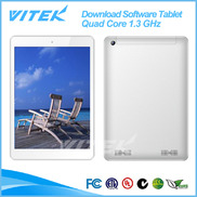 "China 2014 Products 3G 8"" Quad Core Download Software Tablet Chinese factory"