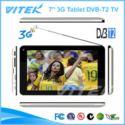 China 7 inch Dual Core TV Tablet with DVB-T2 and 3G factory