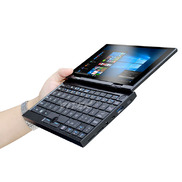 中国7 inch pocket notebook YOGA 360 degree rotation 2 in 1 metal narrow border OGS backlit keyboard mini tablet pc工厂