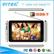 China Hot 7inch Android Dual core ISDB-T TV Tablet PC factory