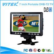 China Smart 7 inch Portable TV Digital TV DVB-T2 TV factory